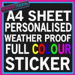 A4 SIZE PERSONALISED FULL COLOUR POSTER FLYER STICKER WEATHERPROOF ADVERTISEMENT